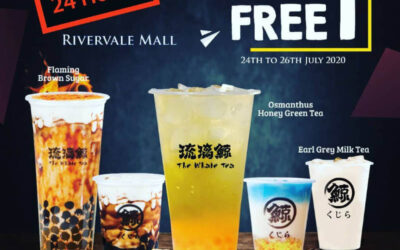 The Whale Tea 1 For 1 Midnight Beverage Promotion at Rivervale Mall 12am to 10am