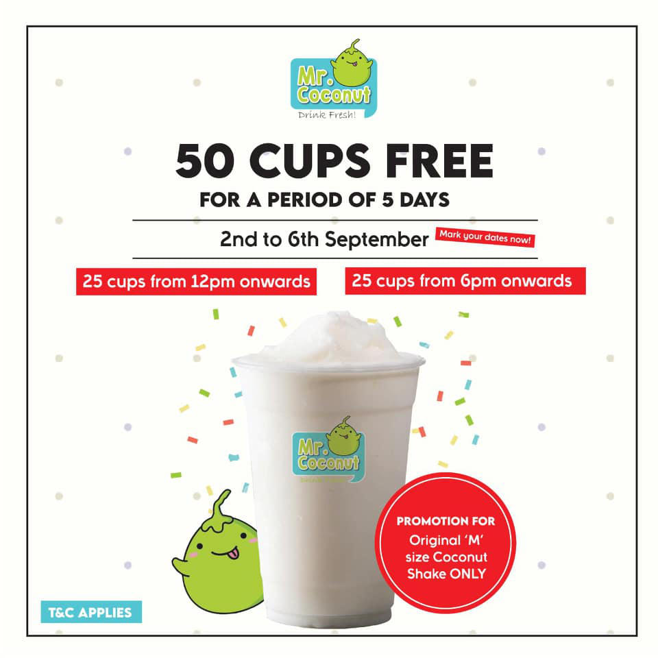 free mr coconut shake