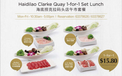Weekday Special 1 For 1 Set Lunch at Haidilao Hot Pot Clarke Quay Outlet Priced From $15.80