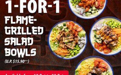 1 For 1 Flaming Don Flame-Grilled Salad Bowls at Bugis+ and Bukit Panjang Plaza
