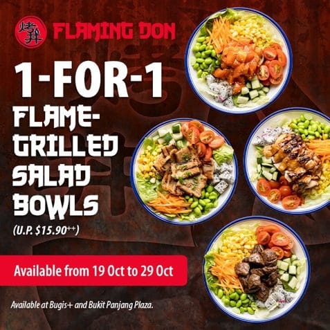 1 for 1 salad bowl flaming don promo