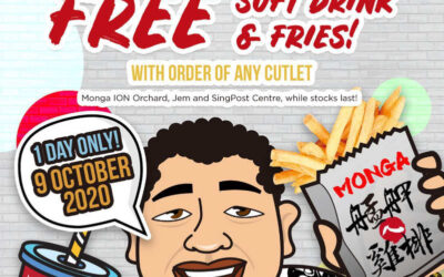 Monga Fried Chicken Free Soft Drink & Fries with Order of Any Cutlet – 1 Day Only