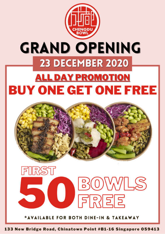 Chengdu Bowl Grand Opening Promo