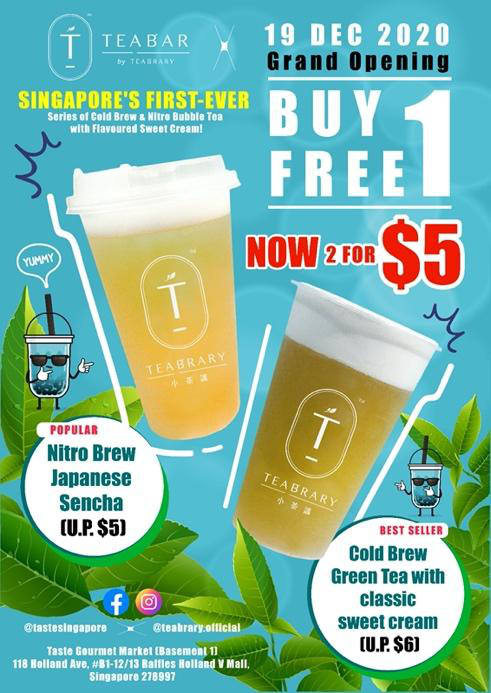 Teabrary Teabar 1 for 1 promo