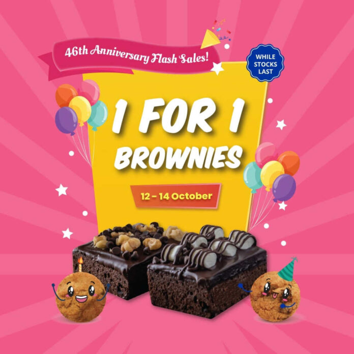 Famous Amos Singapore Promotion 1 for 1