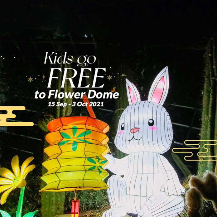 Garden By The Bay Singapore Kids Enter Free Flower Dome