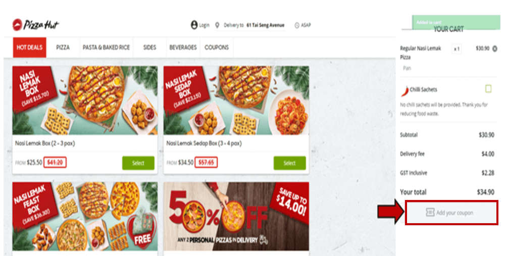 pizza hut promotion