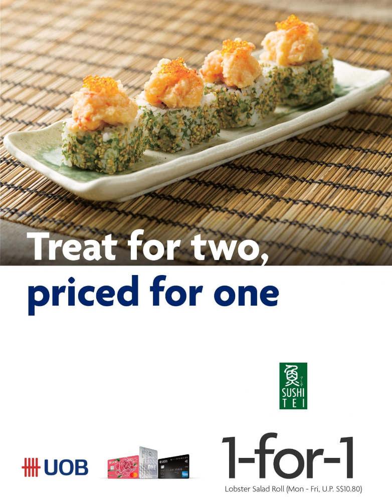 sushi tei uob credit card promotion