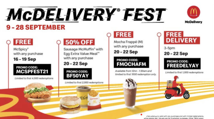 mcdelivery singapore promo code
