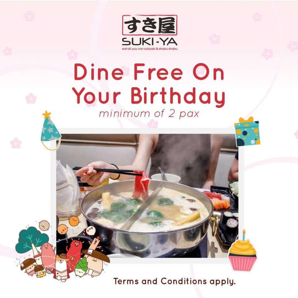 suki ya birthday treat