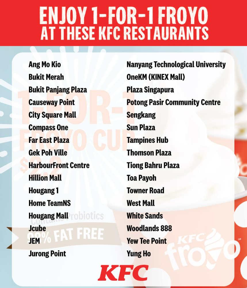 KFC Singapore Promotion froyo