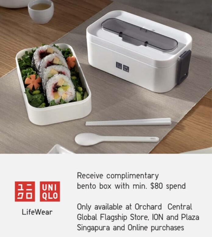 uniqlo singapore free bento box